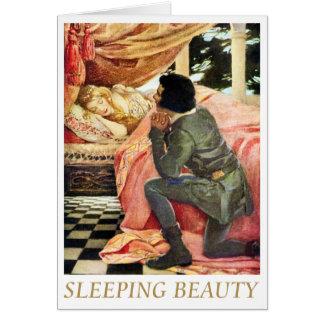 Bella durmiente tarjeta de felicitación