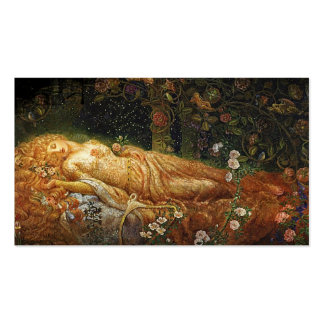 Bella durmiente y una arpa tarjetas de visita
