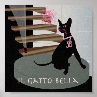 "Bella: El gato hermoso 10 6"""" poster x6"