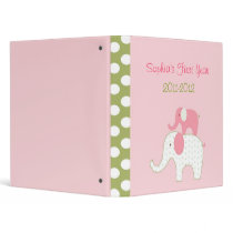 Bella Elephant Baby Photo Album Scrapbook 3 Ring Binder