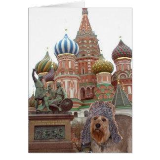 Bella en Moscú Tarjeta Pequeña