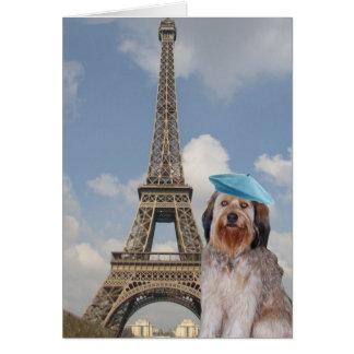 Bella en París Tarjeta Pequeña