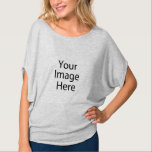 "Bella Flowy Circle Women's T-Shirt<br><div class=""desc"">Design your own t-shirt on Zazzle! Our design tool allows you to upload & add your own artwork, design, or pictures to make a one of a kind t-shirt. Add text using great fonts and preview your design! This easy to customize t-shirt has no minimum order and is made when...</div>"