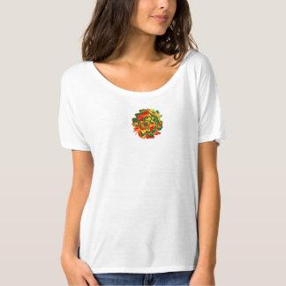 Bella Flowy Psychedelic Flower Simple T-Shirt