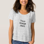 "Bella Flowy Simple Women&#39;s T-Shirt<br><div class=""desc"">Design your own t-shirt on Zazzle! Our design tool allows you to upload &amp; add your own artwork, design, or pictures to make a one of a kind t-shirt. Add text using great fonts and preview your design! This easy to customize t-shirt has no minimum order and is made when...</div>"