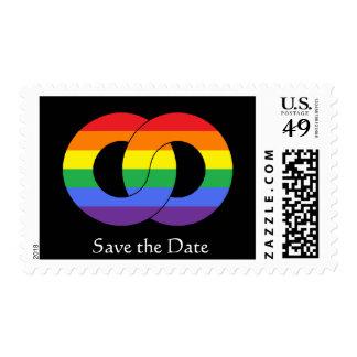 Bella Images Rings interlock rainbow-Save the Date Postage