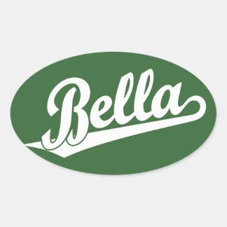 Bella in white oval sticker