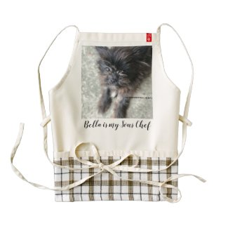 Bella is my Sous Chef Zazzle HEART Apron