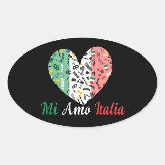 Bella Italia Oval Sticker