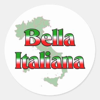 Bella Italiana (mujer italiana hermosa) Pegatina Redonda