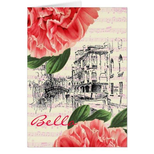 Bella Italy peony Card