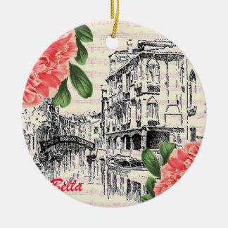 Bella Italy Peony Christmas Tree Ornaments
