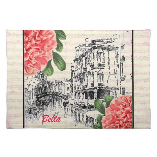 Bella Italy Peony Cloth Placemat