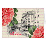 Bella Italy peony Greeting Card
