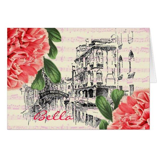 Bella Italy peony Greeting Card
