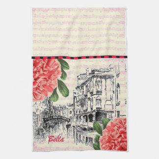 Bella Italy Peony Hand Towel