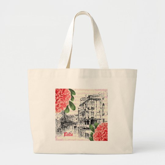 Bella Italy Peony Large Tote Bag