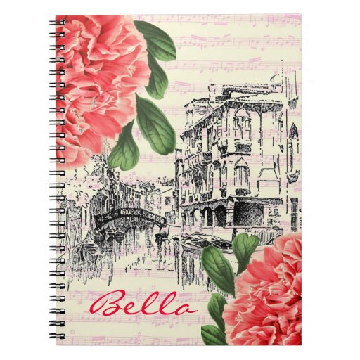 Bella Italy peony Notebook
