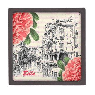 Bella Italy Peony Premium Trinket Box