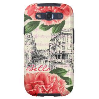 Bella Italy peony Samsung Case Galaxy SIII Cases