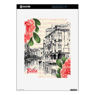 Bella Italy Peony Skins For iPad 2