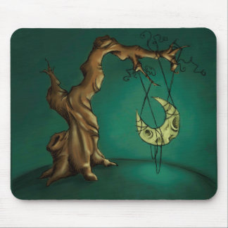 Bella Luna - Moon and Twisted Tree Mouse Pad