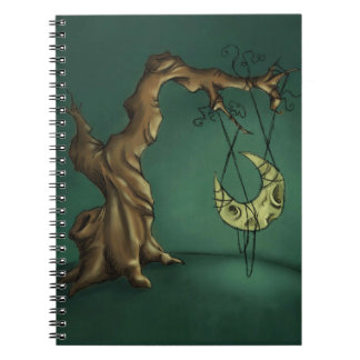 Bella Luna - Moon and Twisted Tree Notebook