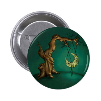 Bella Luna - Moon and Twisted Tree Pinback Button