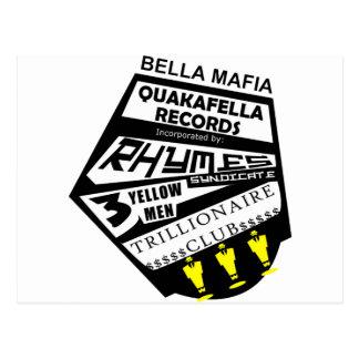 Bella Mafia Quackafella Records Incorporated Postcard
