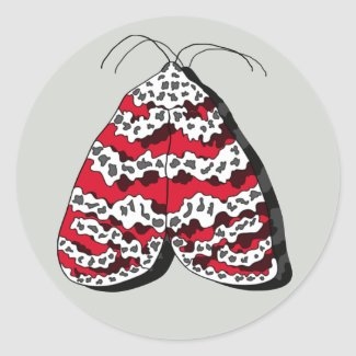 Bella Moth Insect Sticker Classic Round