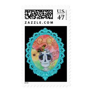 Bella Muerte, Dia de los Muertos Stamp Sello Postal