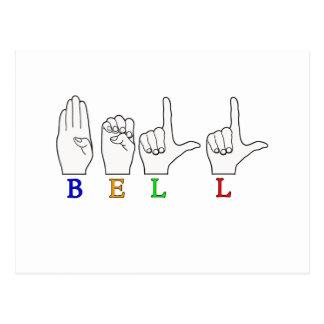 BELLA NAME ASL FINGERSPELLED SIGN POSTCARD