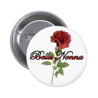 Bella Nonna (abuela italiana hermosa) Pin Redondo De 2 Pulgadas