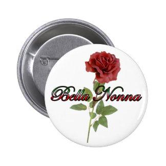 Bella Nonna (Beautiful Italian Grandmother) Pinback Button