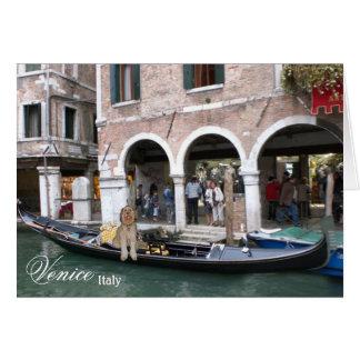 Bella On A Gondola Ride In Venice Italy Card