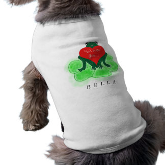 BELLA Personalized Dog with Frog Sweater T-Shirt