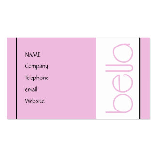 Bella pink Profile Card Double-Sided Standard Business Cards (Pack Of 100)