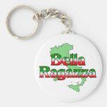 Bella Ragazza (Beautiful Italian Girl) Key Chains