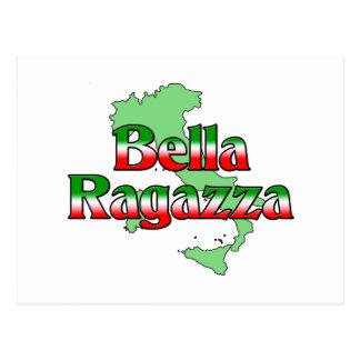 Bella Ragazza (chica italiano hermoso) Postal