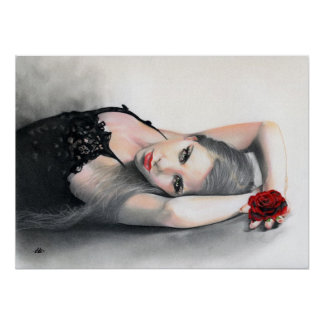 Bella Rosa Beauty red rose Poster