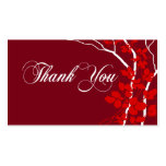 Bella Thank You Gift Tag Special Thanks Double-Sided Standard Business Cards (Pack Of 100)