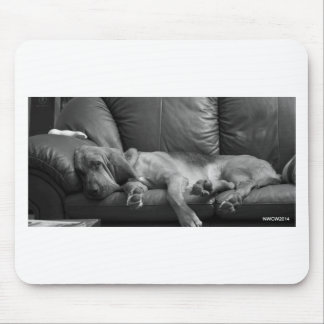 Bella the Bloodhound sleeping Mouse Pad