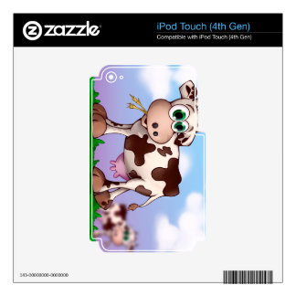 Bella The Cow Eating Hay on a Hill Top iPod Touch 4G Skin