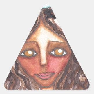 Bella Triangle Sticker