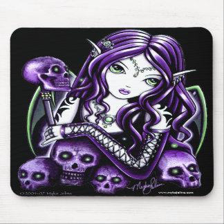 Belladonna Purple Skull Fairy Mousepad