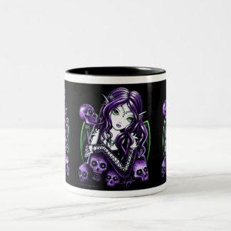 """""""Belladonna"""" Purple Skull Fairy Mug"""