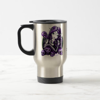 """""""Belladonna"""" Purple Skull Fairy Travel Mug"""