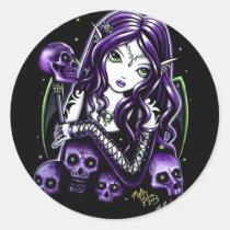 belladonna, skulls, fairy, hot topic, fantasy, goddess, myka jelina, art, Sticker with custom graphic design