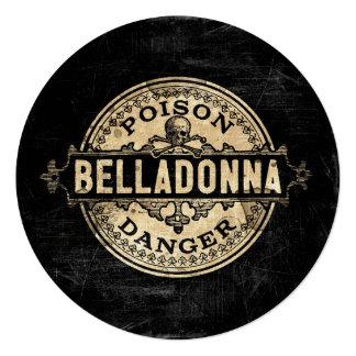 Belladonna Vintage Style Poison Label Card