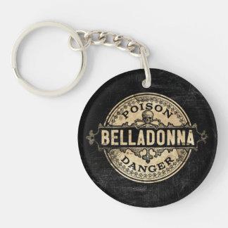Belladonna Vintage Style Poison Label Keychain